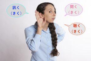 「聞く」「聴く」「訊く」を使い分ける