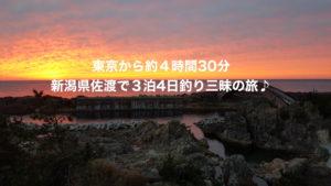 東京から約4時間30分 新潟県佐渡で3泊4日釣り三昧の旅♪